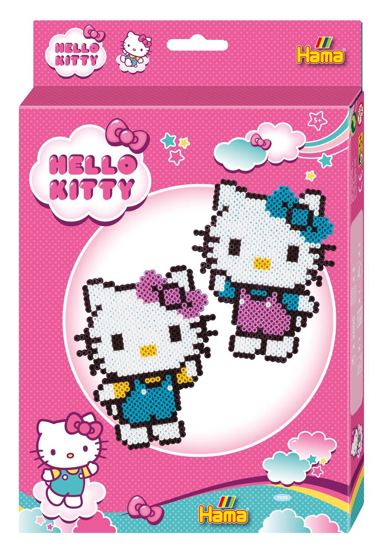 Hama 7959 - Geschenkpackung Hello Kitty, ca. 2000 Bügelperlen und 2 Stiftplatten