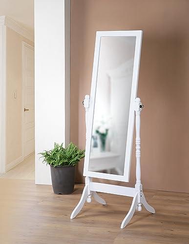 Wooden Cheval Bedroom Floor Mirror
