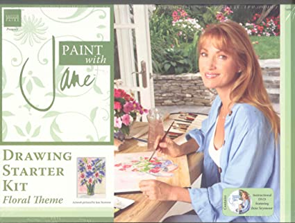 amazon com paint with jane seymore drawing starter kit