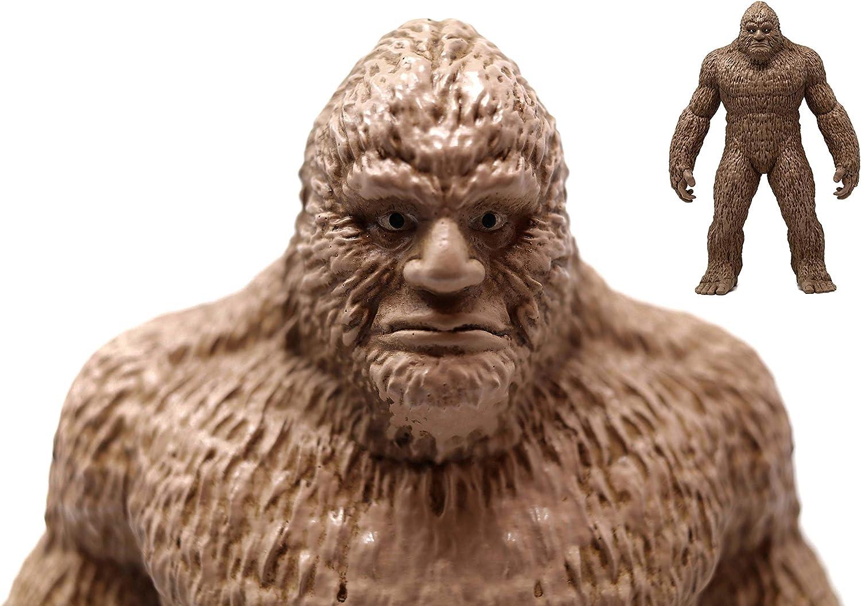 ANISAU Epic Bigfoot Statue Yeti Sasquatch Figure Polyresin Sculpture Figurine 9 Inch (Beige)