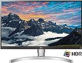 LG 27UK650 27 inch 4K UHD HDR 10 Height Adjustable IPS Monitor (3840 x 2160, 2x HDMI, DisplayPort, 350 cd/m2, 5ms, AMD Freesync)