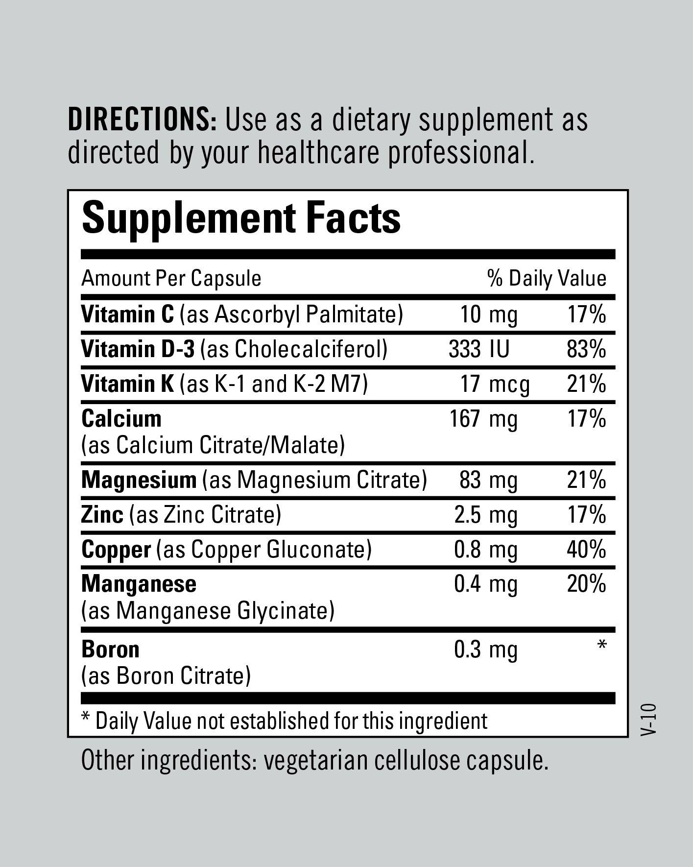 Metabolic Maintenance - Rebuild Plus - Optimal Bone Support Formula, 180 Capsules by Metabolic Maintenance (Image #6)