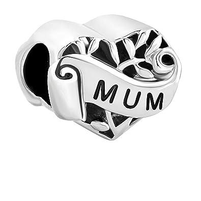 b5f394d56 Heart Mum I Love You Mother Family Filigree Charms Sale Cheap Beads fit  Pandora Chamilia Bracelet Gift: Amazon.co.uk: Jewellery