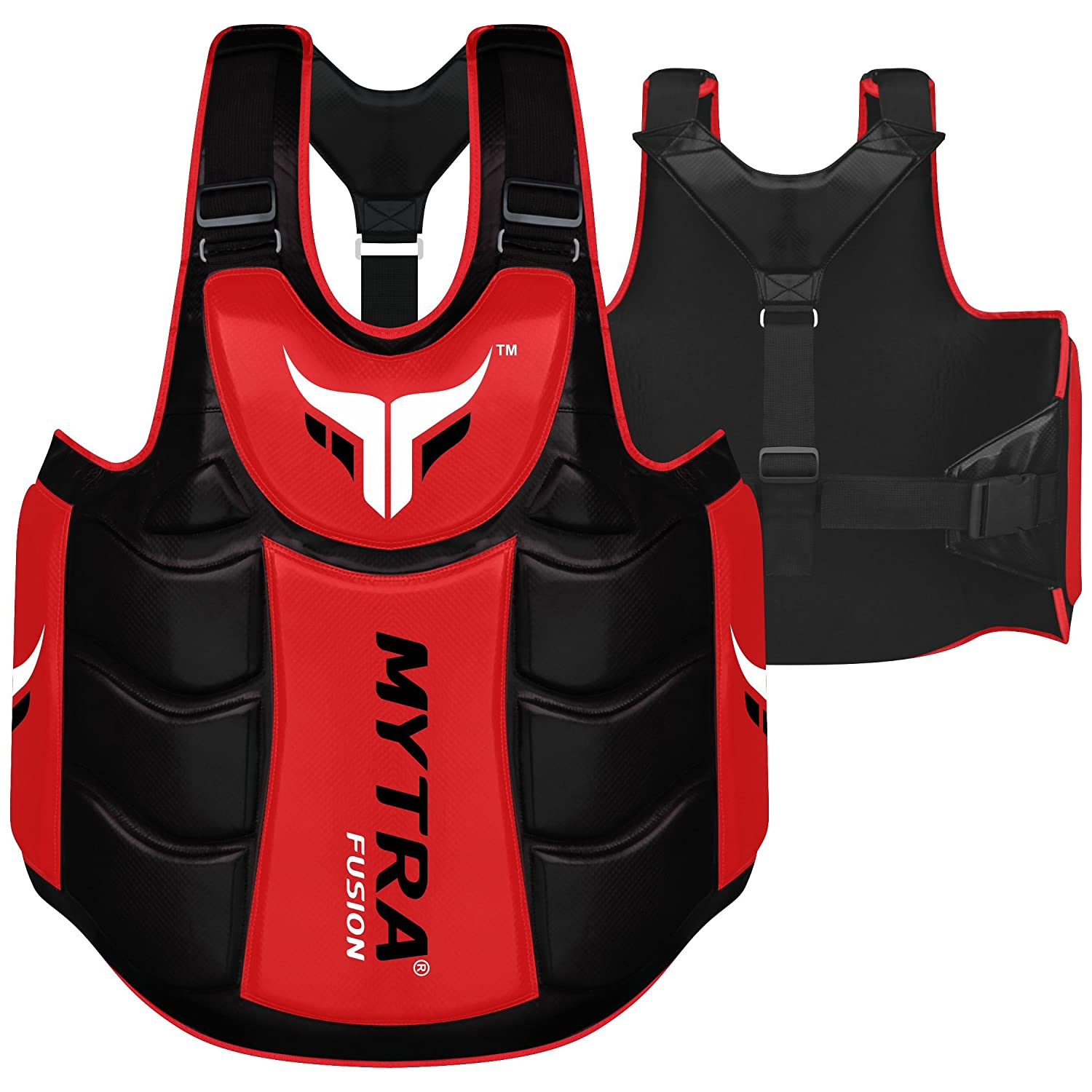Mytra Fusion Chest /& Belly Protector Body Shield Body Armor Body Pad Body Protector Chest Ribs and Belly Protector for Boxing MMA Muay Thai Fitness Gym Workout