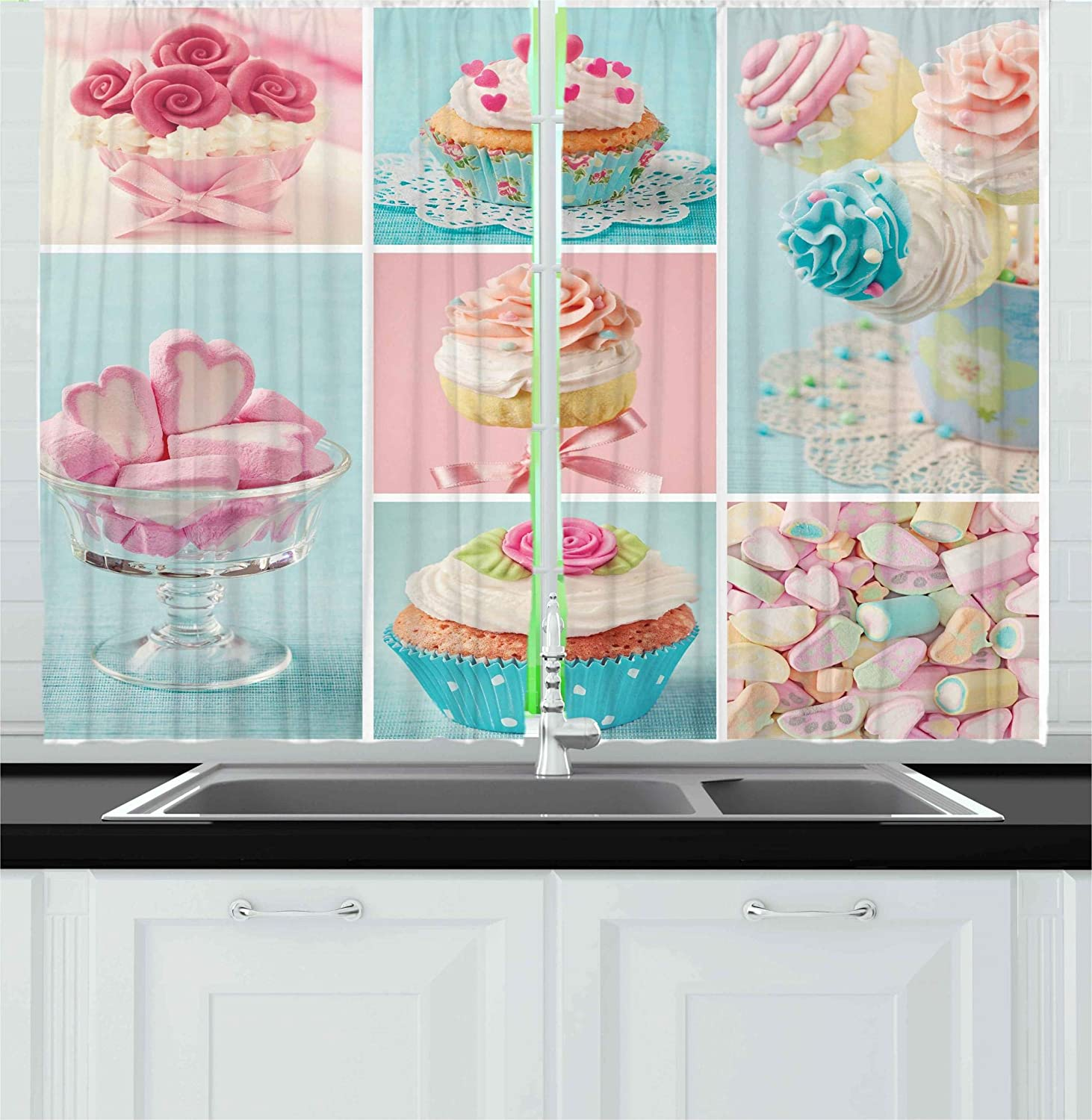 Cupcake Kitchen Curtains