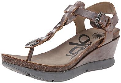 OTBT Women's Graceville Wedge Sandal, Pewter, ...