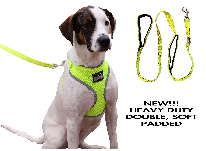 Amazon reflective adjustable soft mesh pet dog harness with amazon reflective adjustable soft mesh pet dog harness with leash pet supplies pooptronica Images