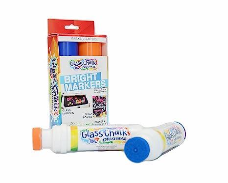 Amazon.com: Marcadores de gis, para vidrio., Azul y ...