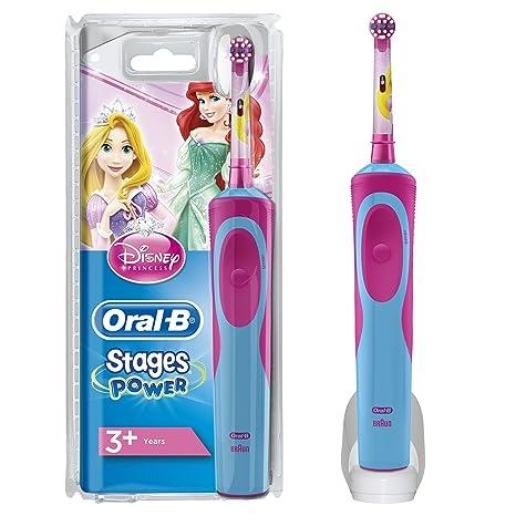 Oral-B Stages Power Kids - Cepillo de dientes eléctrico de las princesas  Disney 5268a34b634f