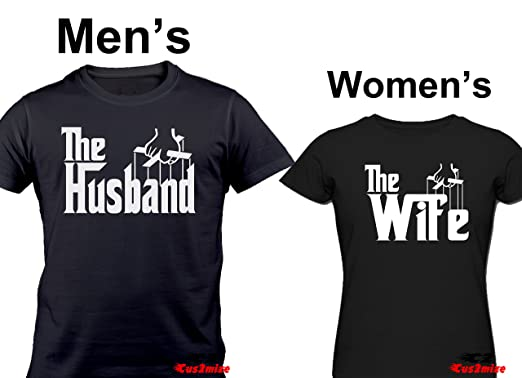 8b42936d Cool Funny T Shirt Set Matching Couple Shirts The Husband The Wife Funny T  Shirt (