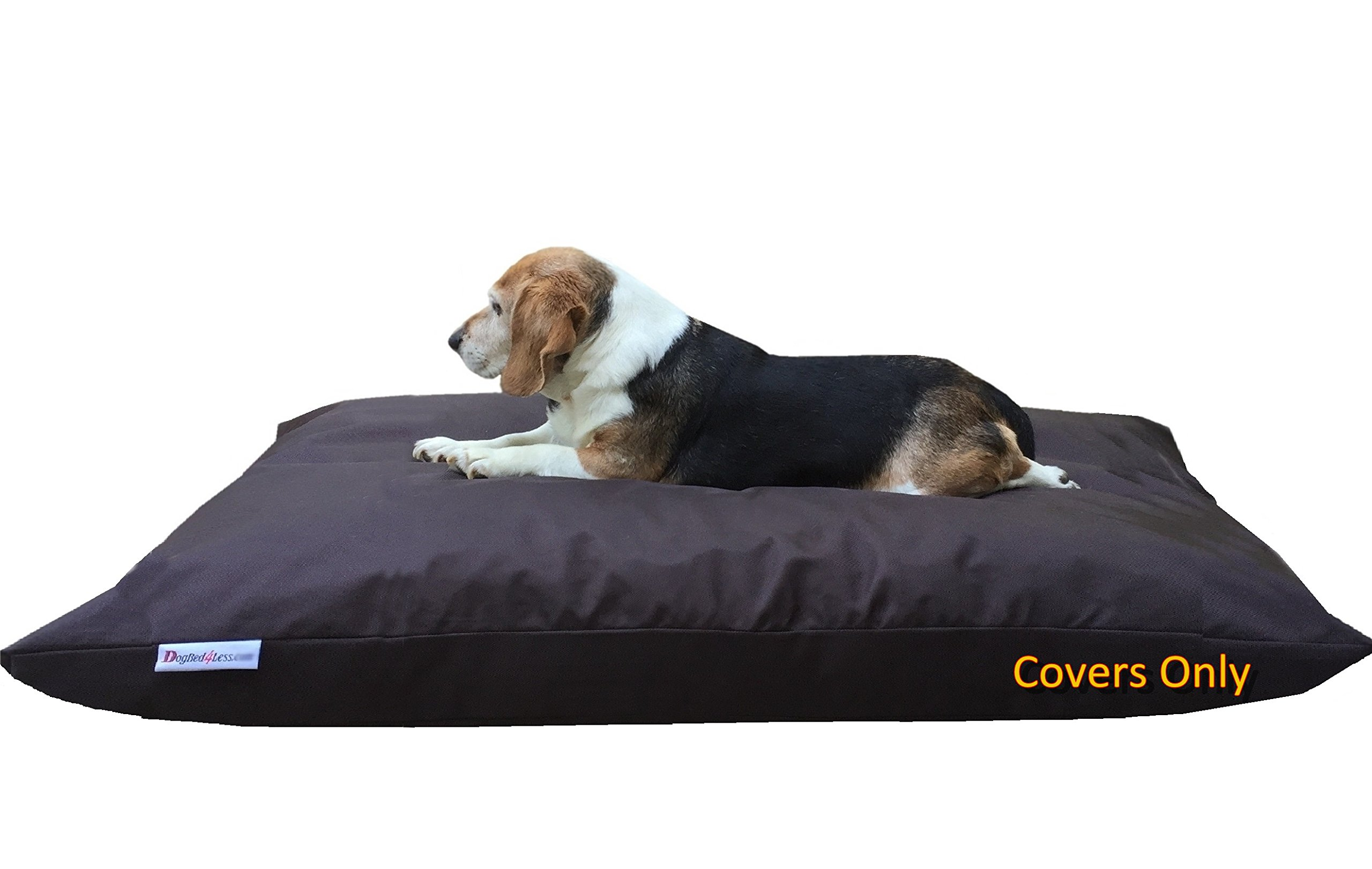 Dogbed4less Do It Yourself DIY Pet Bed Pillow Duvet 1680 Nylon Durable Cover and Waterproof Internal case for Dog/Cat at Large 48''X29'' Seal Brown Color - Covers only