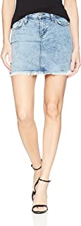 product image for James Jeans Women's Daisy Mid Length Cut-Off Skirt in New Wave
