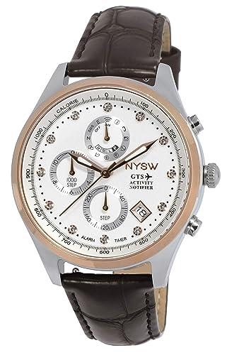 NYSW | Reloj Inteligente híbrido con Cristales de Swarovski, Hermoso Cristal de Zafiro, Calendario