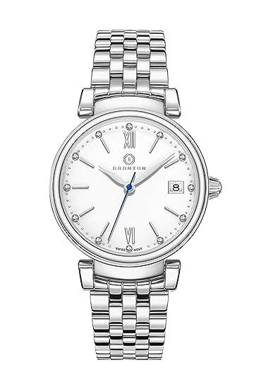 GRANTON Reloj de pulsera mujer COLLECTION IMPERIAL Reloj de pulsera Quartz Suiza analogico acero 36mm plata: Amazon.es: Relojes