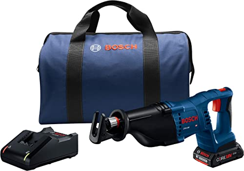 Bosch Power Tools Reciprocating Saw Kit – CRS180-B15 18V D-Handle Saw w 1 4.0 Ah CORE Battery