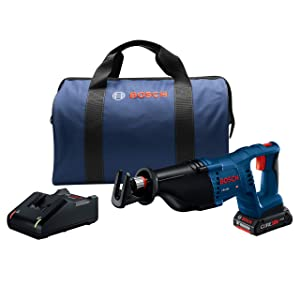 Bosch Power Tools Reciprocating Saw Kit - CRS180-B15 18V D-Handle Saw w/ (1) 4.0 Ah CORE Battery
