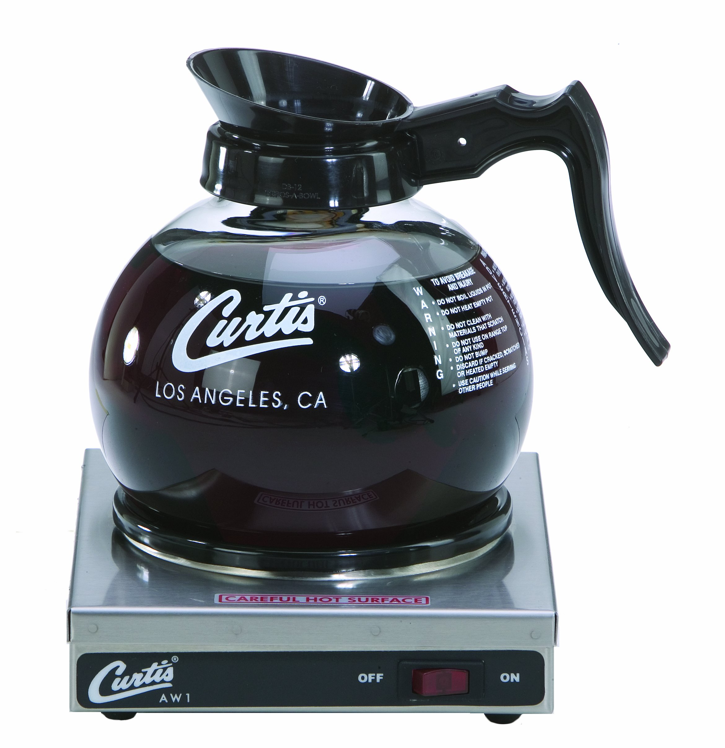 Wilbur Curtis Decanter Warmer 1 Station Warmer - Hot Plate to Keep Coffee Hot and Delicious  - AW-1-10 (Each)