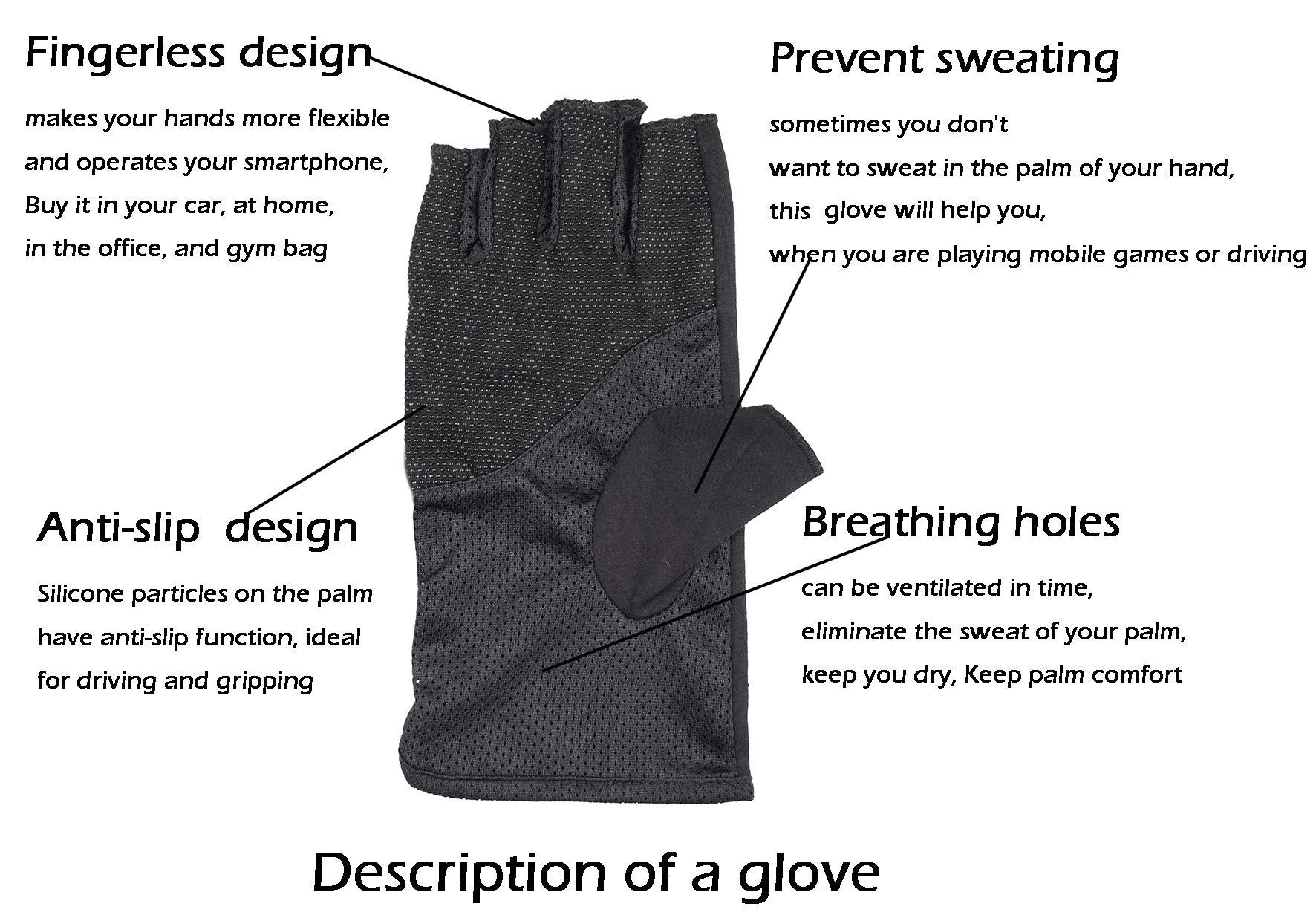 Bienvenu Mens Summer UV Protection Half Finger Outdoor Hiking Driving Cycling...