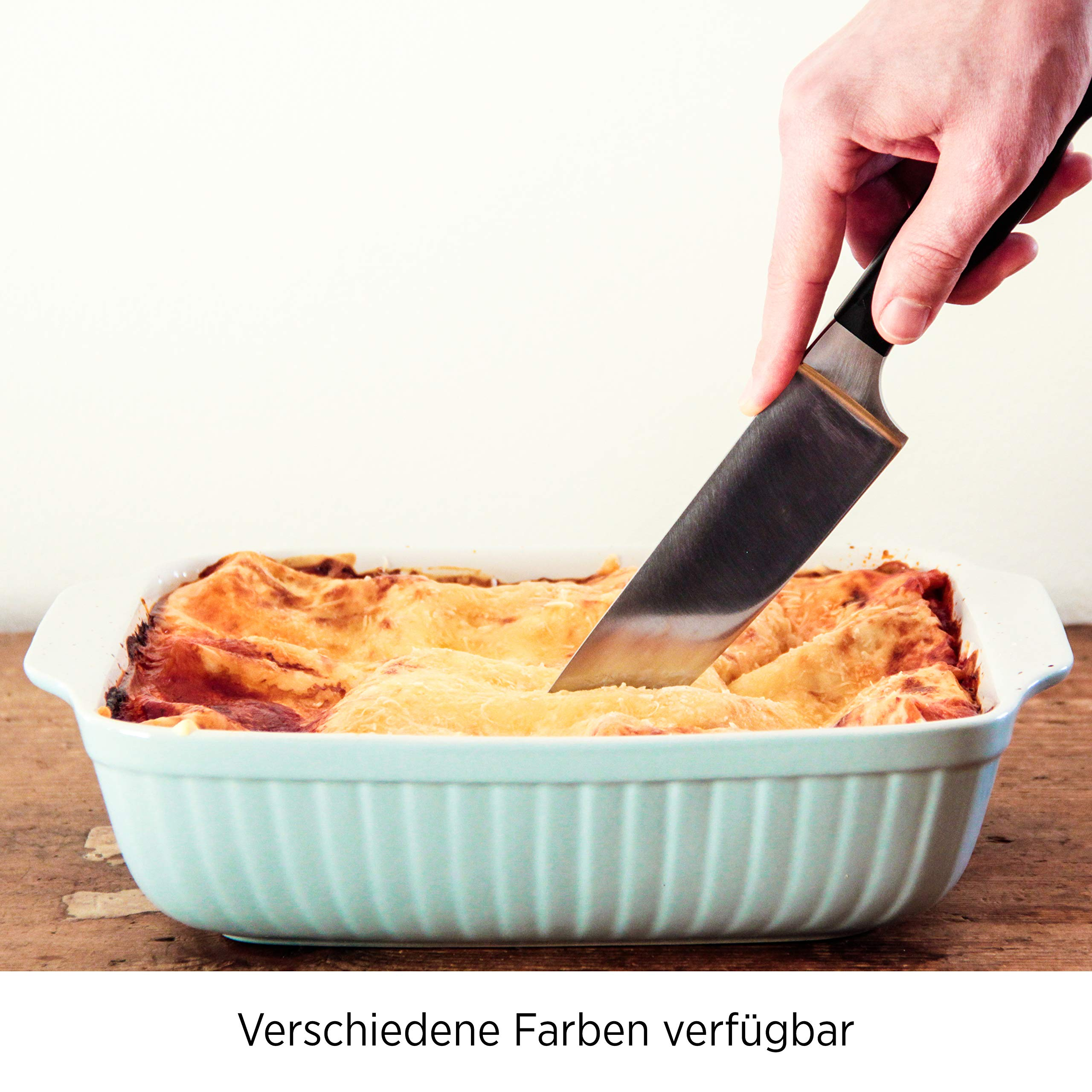 Mäser Kitchen Time 931486 Rectangular Baking Dish for Lasagne, Baking and Tiramisu Mould, Scratch and Cut-Resistant Square Oven Dish Ceramic by Mäser (Image #4)