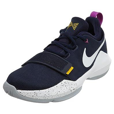 de151e32791 Nike Kids' Grade School PG 1 Basketball Shoes (6.5Y, Obsidian/White ...