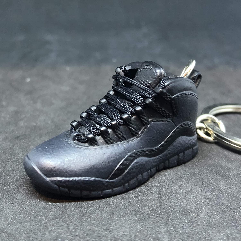 78223bb7492475 Amazon.com  Air Jordan X 10 High Retro Dark Shadow OVO Black OG Sneakers  Shoes 3D Keychain 1 6 Figure + Shoe Box  Everything Else