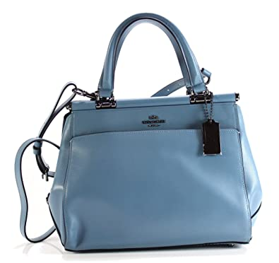 Coach Grace Dark Chambray Leather Satchel Bag Blue Leather  Amazon ... 102e619b200d2