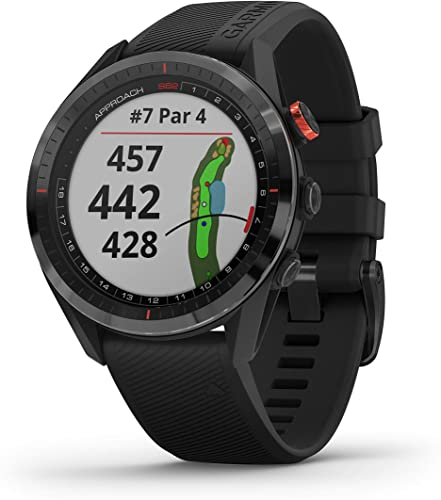 Garmin Approach S62, Premium Golf GPS Watch, Built-in Virtual Caddie, Mapping and Full Color Screen, Black 010-02200-00