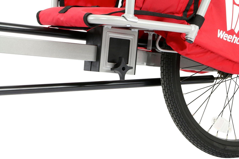 Weehoo IGO Turbo - Bicicleta de Remolque para niños, Color Rojo, 4 - 9 años: Amazon.es: Deportes y aire libre