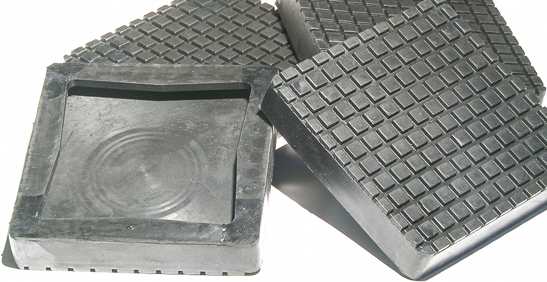 Set of 4 Square Auto Lift Parts Rubber Replacement Arm Pads for Hoist