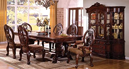 Amazon.com - Tuscany I Antique Cherry Finish 7-Piece Formal ...