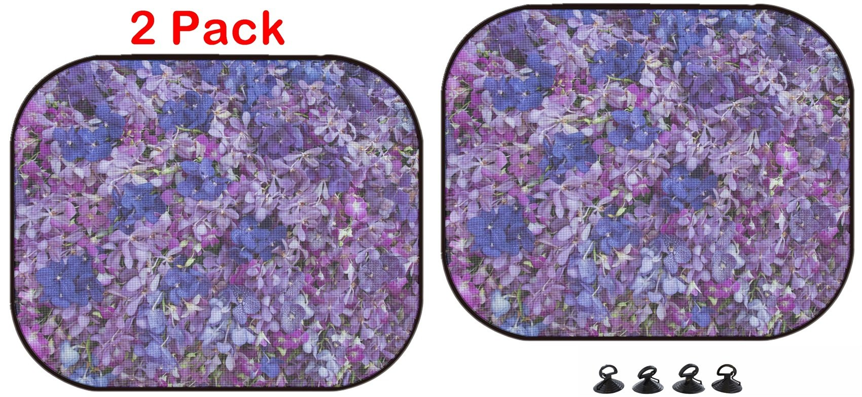 Luxlady Car Sun Shade Protector Block Damaging UV Rays Sunlight Heat for All Vehicles, 2 Pack Image ID: 34364004 Blue Purple Orchid Flower Background