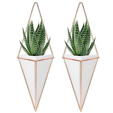 Amazon Nellam Ceramic Planter Set 2 Pcs Modern Geometric