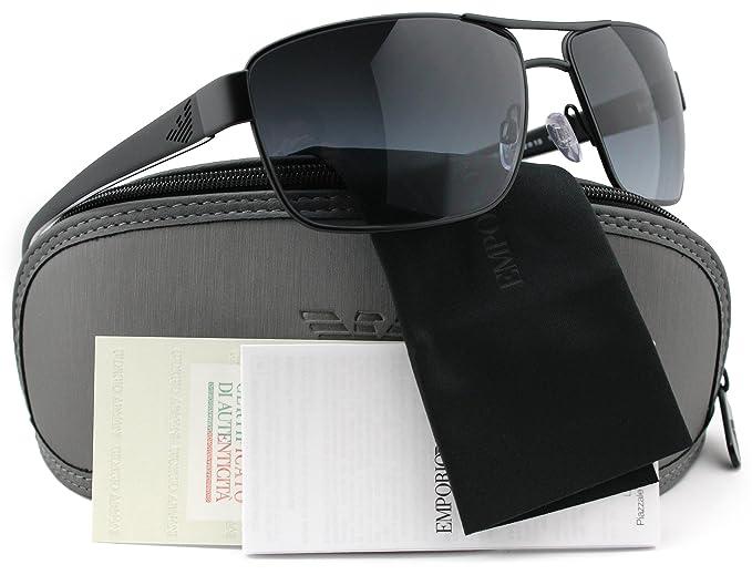 227baa18e51 Image Unavailable. Image not available for. Colour  Emporio Armani EA2031 Sunglasses  Matte Black w Grey Gradient (3109 8G) EA