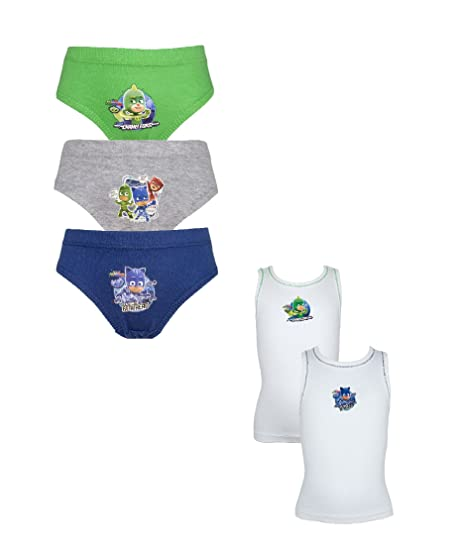 Amazon.com: Cartoon Character Products Boys PJ Masks Pants and Vest Underwear Set 18 Months - 5 Years: Clothing
