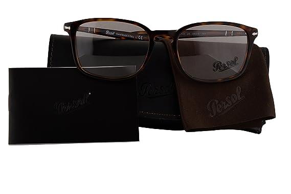 3484ff12559 Persol Authentic Eyeglasses PO3161V Havana w Clear Demo Lens 24 PO 3161-V  (54mm)  Amazon.co.uk  Clothing
