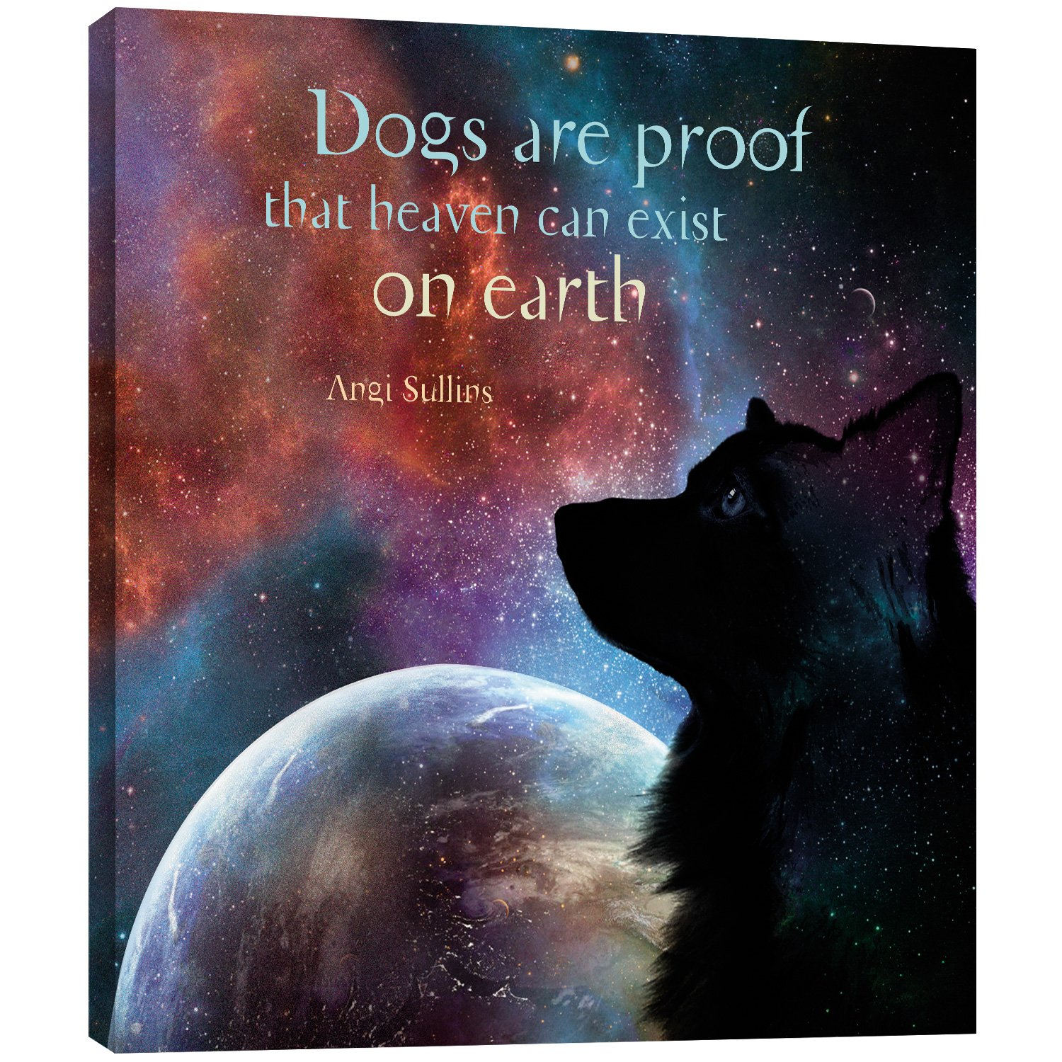 81179 Dogs Heaven Themed Pet Lover Art 11.25 x 11.25 Inches Tree-Free Greetings EcoArt Home Decor Wall Plaque 11.25