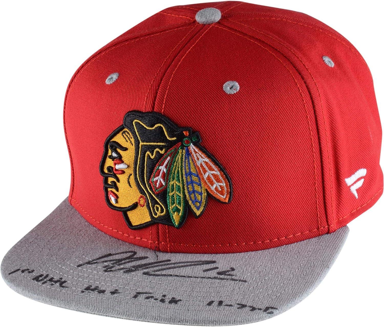 Alex DeBrincat Chicago Blackhawks Autographed Cap with 1st NHL Hat Trick 11/27/17 Inscription - Limited Edition of 12 - Fanatics Authentic Certified