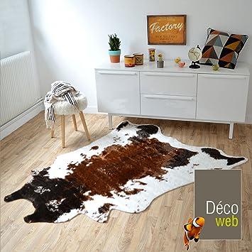 tapis peau de bte design imitation vache 140 x 170 cm - Tapis Peau De Bete