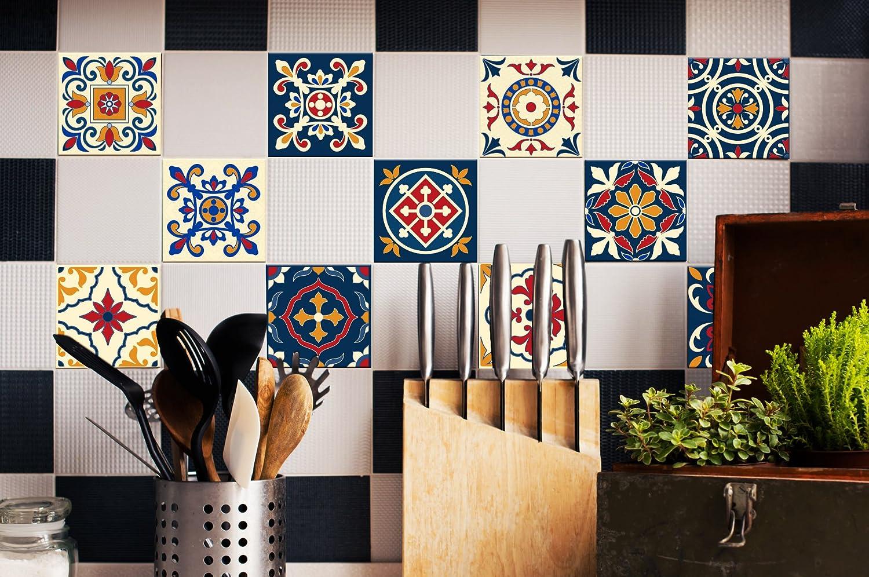 Fliesenaufkleber Set Portugiesisch - Dekorfliesen für Küche & Bad ...