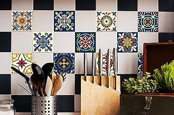Fliesenaufkleber Set Portugiesisch Dekorfliesen Für Küche Bad - Portugiesische fliesen küche