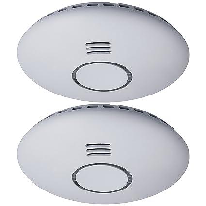 Detector de humo Smartwares RM174RF/2 – 85 dB – Baterías incluidas – Conectable