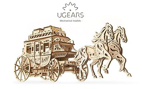 UGEARS 70045 Históricos Post Carruaje DIY Maqueta de Mecanismo de fácil y Amplia de – Bella