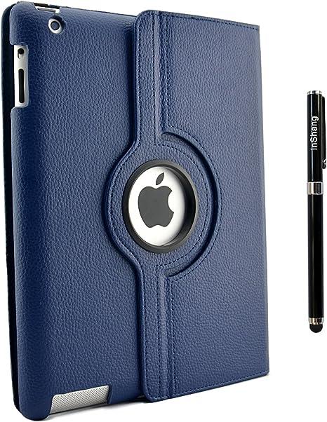 inShang Funda Case Compatible con iPad Case 2 iPad 3 iPad Funda 4, 360 Grados de rotacion, Smart Cover con Inteligente de sueno/Despertar Pluma: Amazon.es: Informática