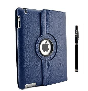 inShang Funda Case Compatible con iPad Case 2 iPad 3 iPad Funda 4, 360 Grados de rotacion, Smart Cover con Inteligente de sueno/Despertar Pluma