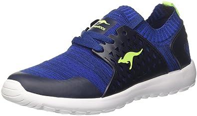 KangaROOS Unisex-Kinder W-481 Kids S Sneaker, Schwarz (Jet Black/Daisy Pink), 33 EU