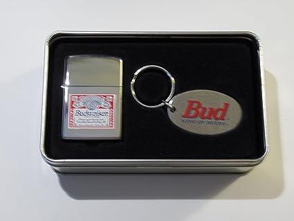 Amazon.com: Zippo Bud Budweiser Beer etiqueta logo Mechero y ...