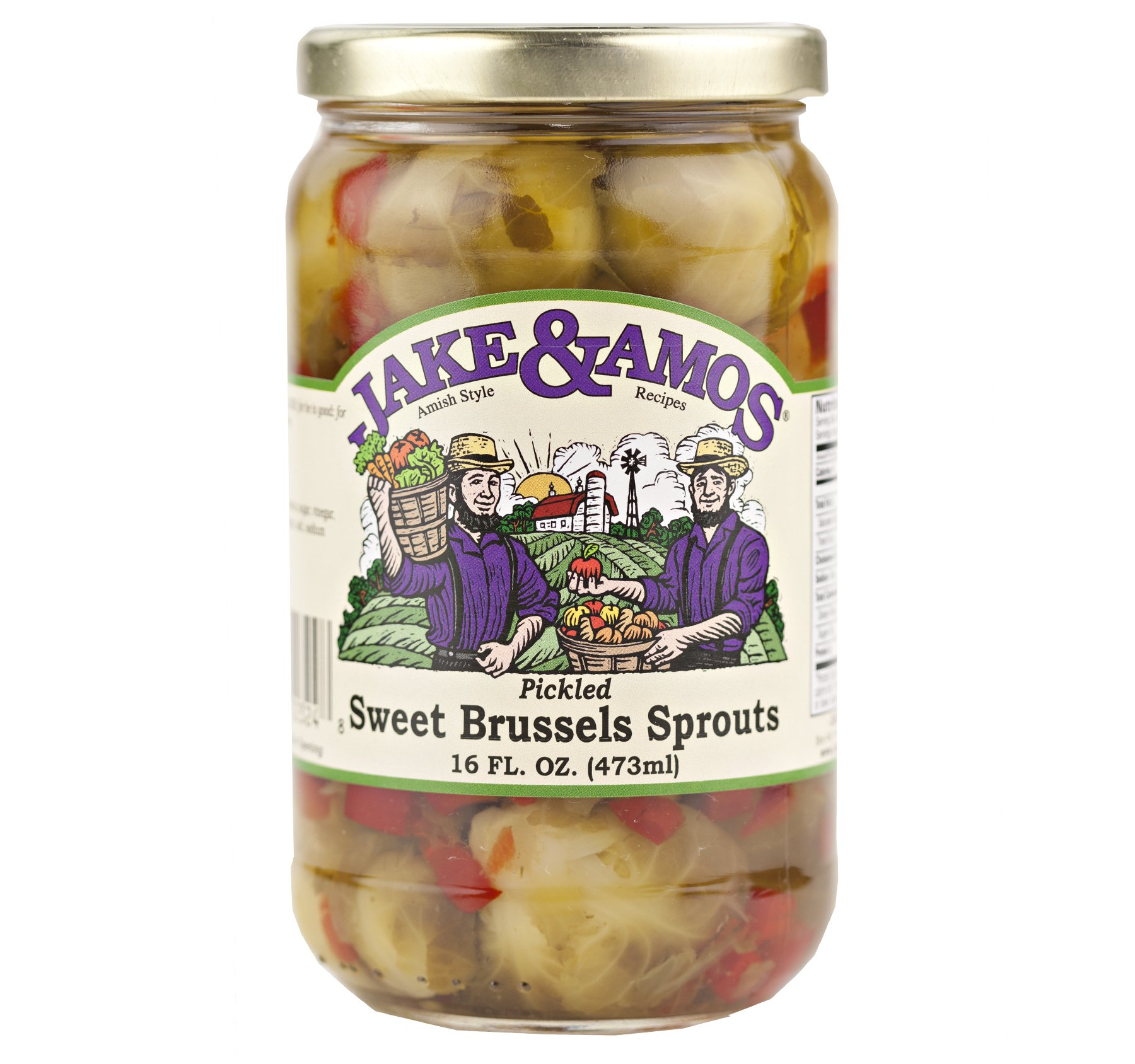 Jake & Amos Pickled Sweet Brussels Sprouts 16 oz. (3 Jars)