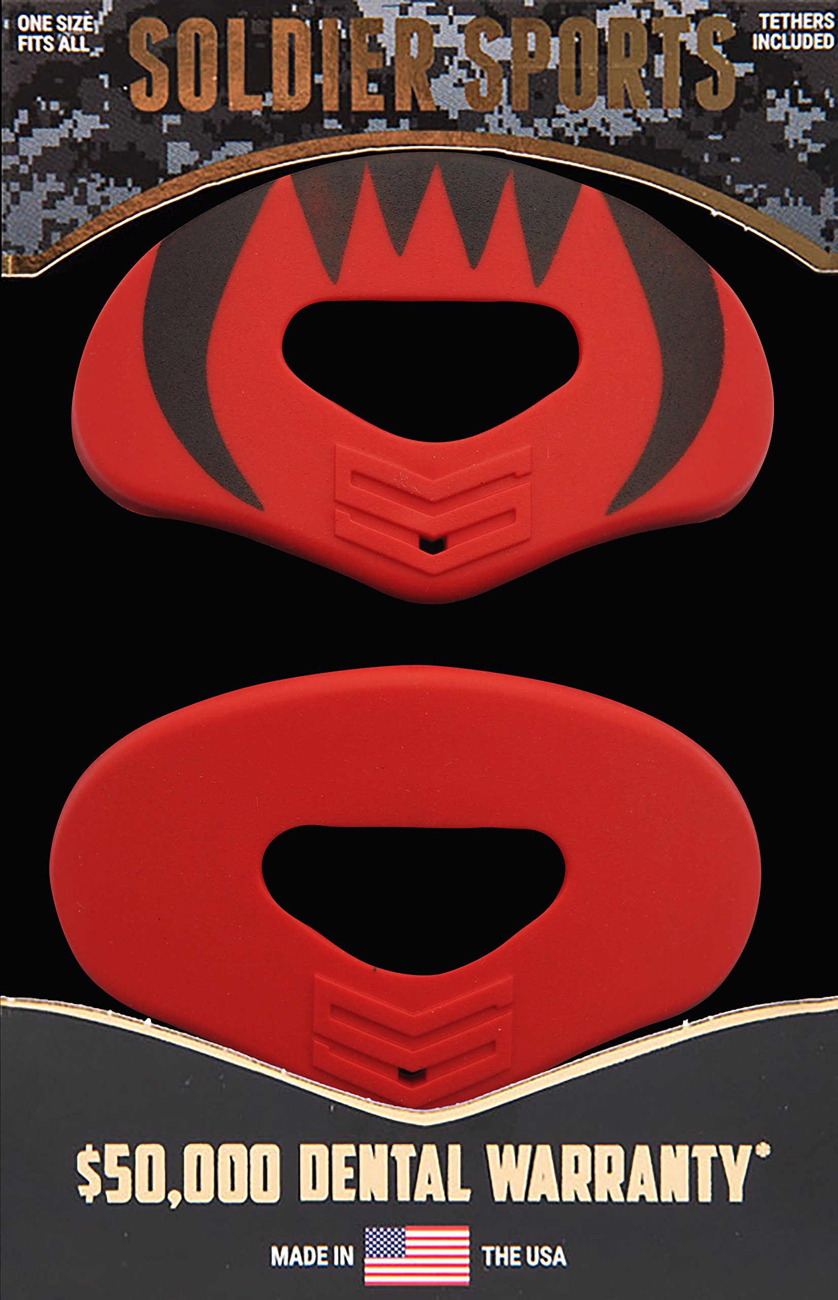 Soldier Sports Elite Air Lip Protector, Red, One Size Fits All