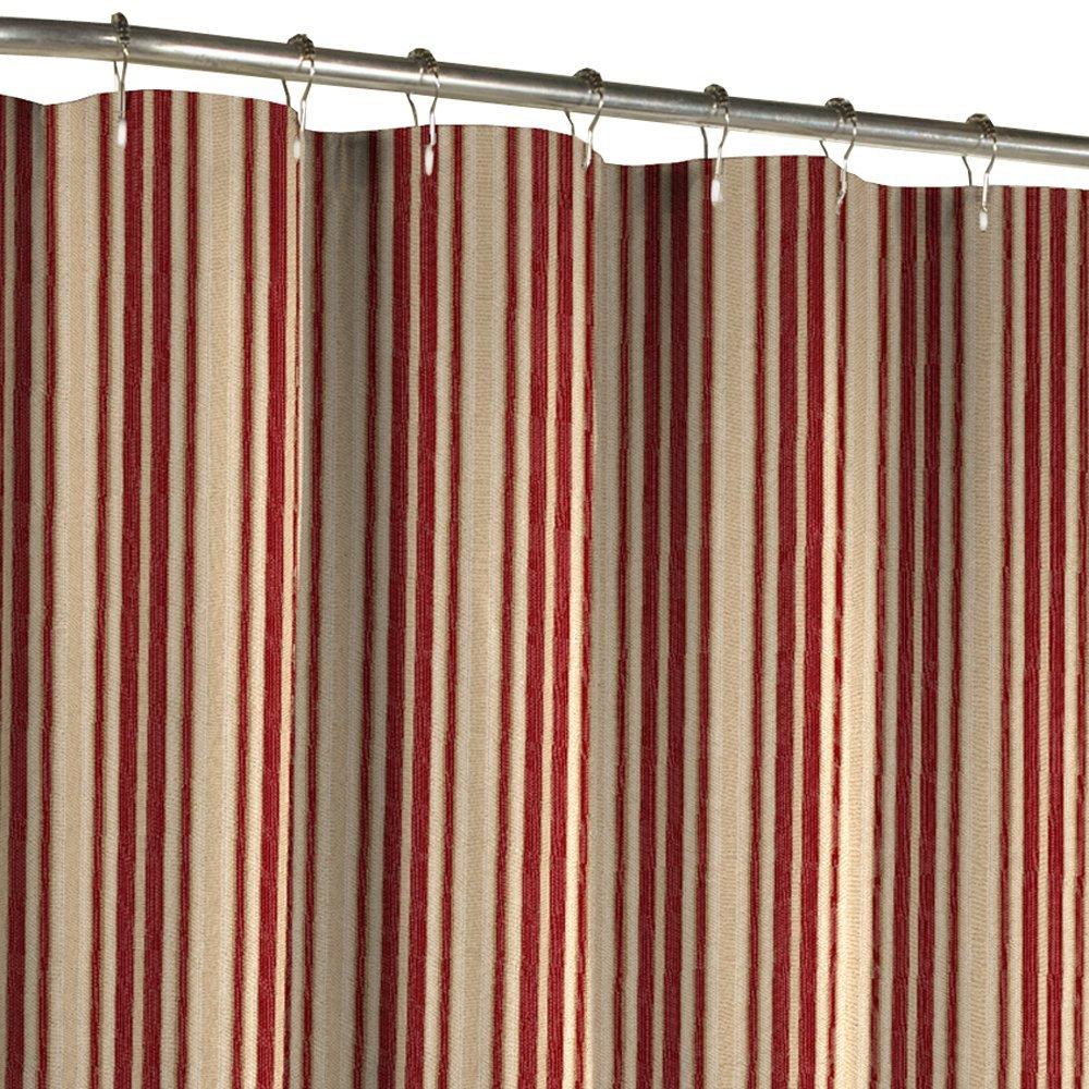 red and tan shower curtain. Amazon Com Maytex Sorrento Stripe Fabric Shower Curtain Burgundy Mesmerizing Tan Striped Ideas  Best idea home