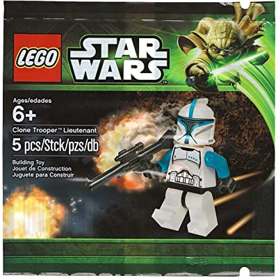LEGO Clone Trooper Lieutenant Minifigure Polybag (5001709): Toys & Games
